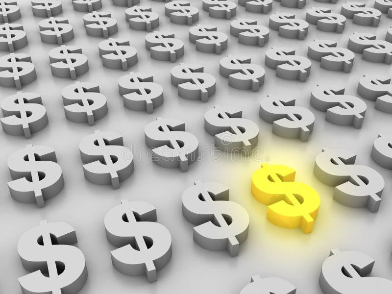 dolar możny royalty ilustracja