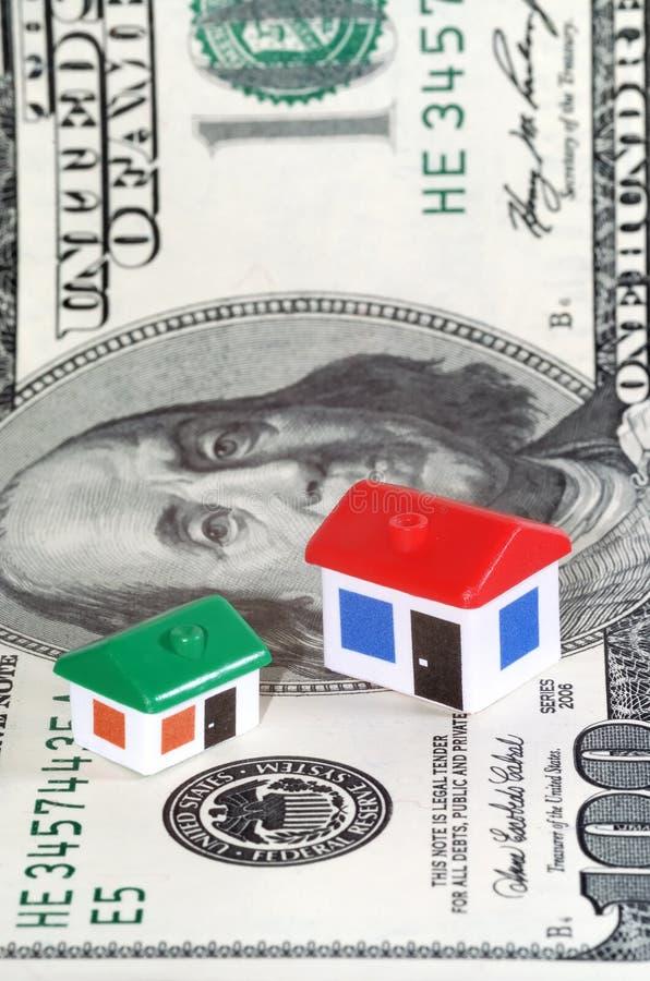 dolar model domów banknotów zdjęcie stock