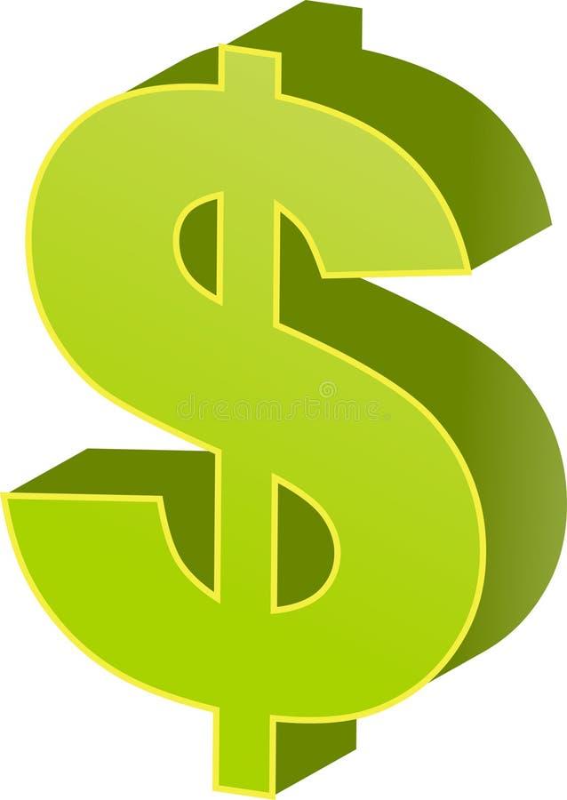 dolar nas waluty royalty ilustracja