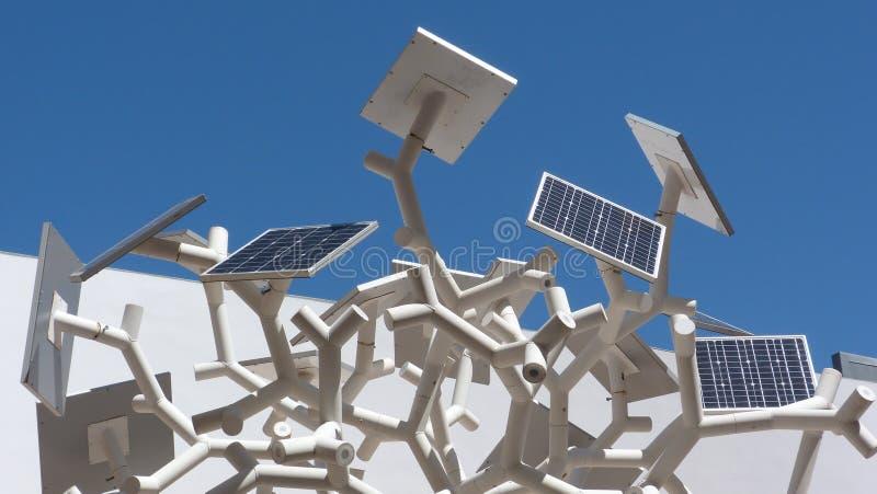 Solar panel tree at Oriente, Lisbon royalty free stock image