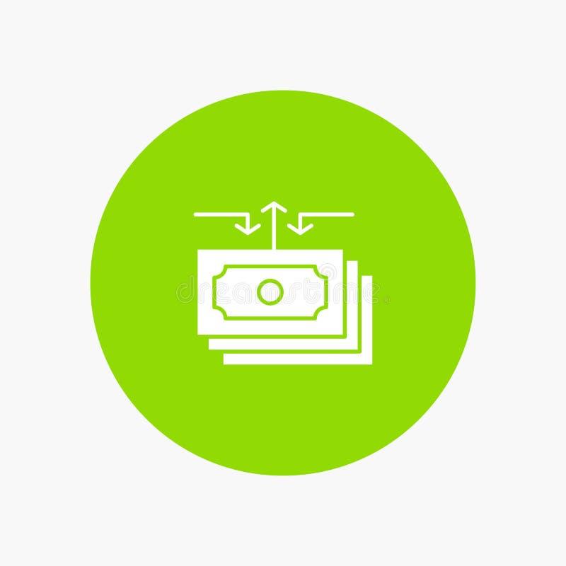Dolar, przepływ, pieniądze, gotówka, raport royalty ilustracja