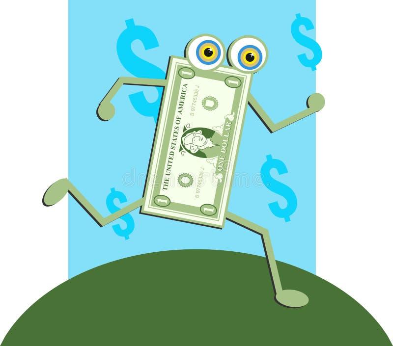 dolar rachunki royalty ilustracja