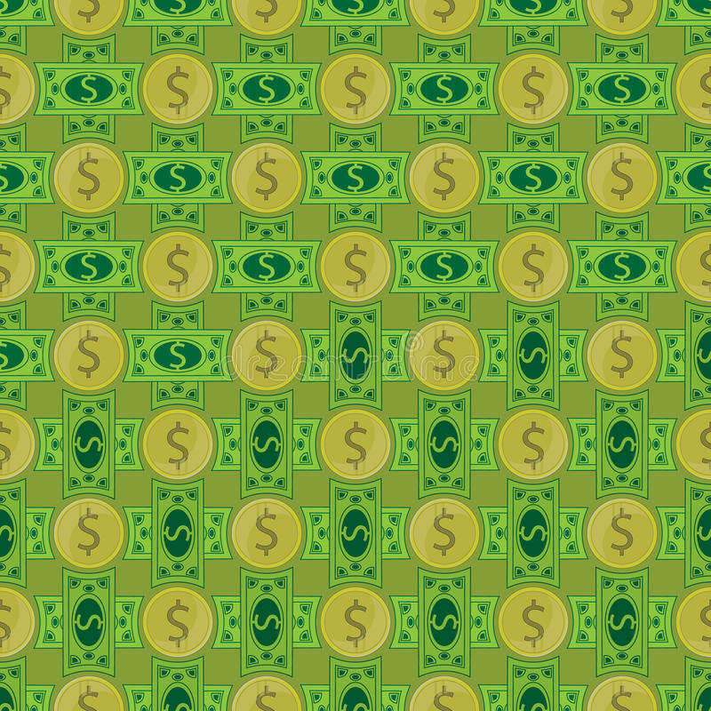 Dolar. seamless pattern. royalty free illustration