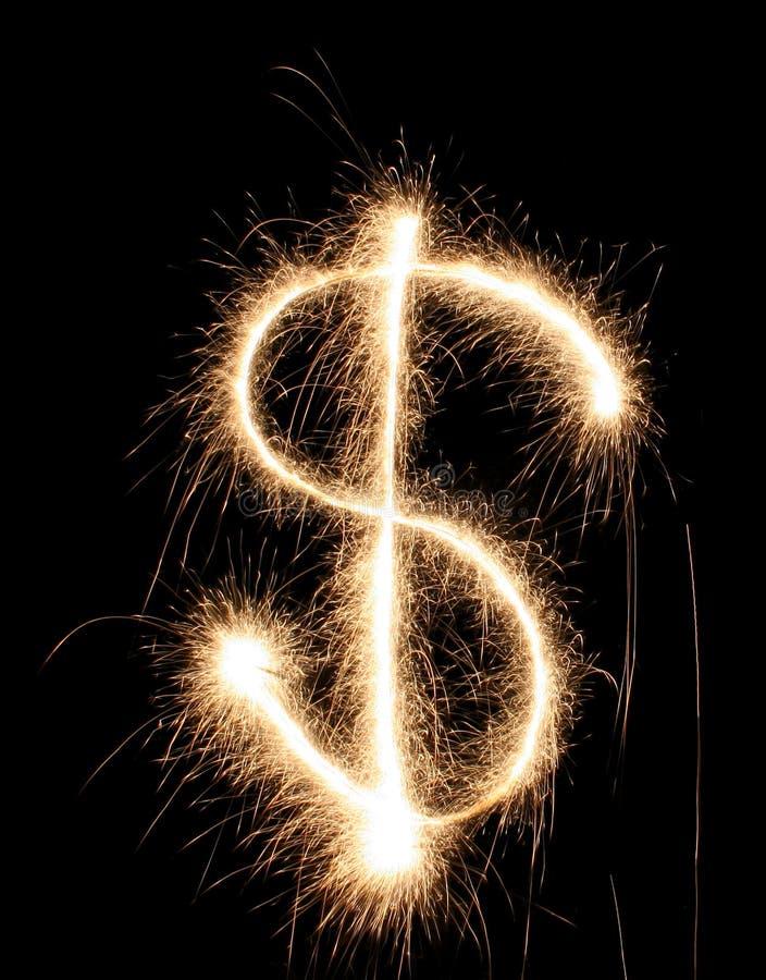 dolar sparkler obrazy stock