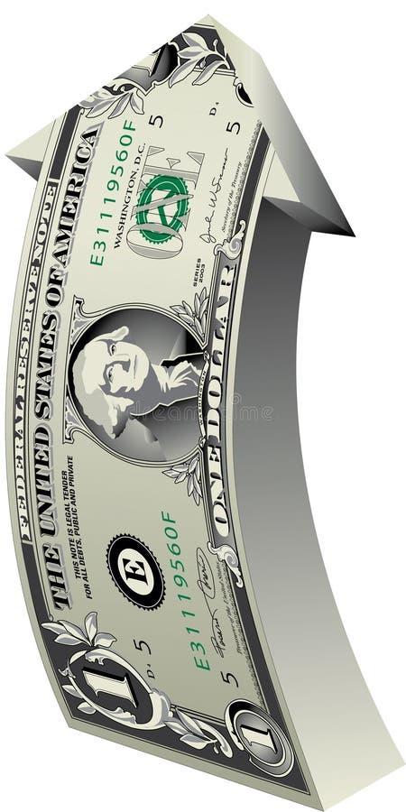 dolar strzała ilustracji