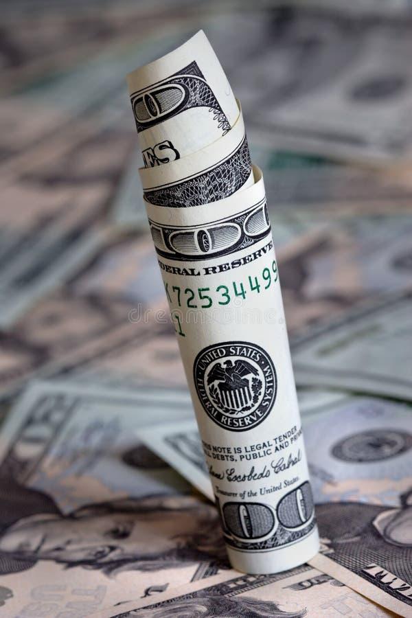 dolar walcowane obrazy royalty free