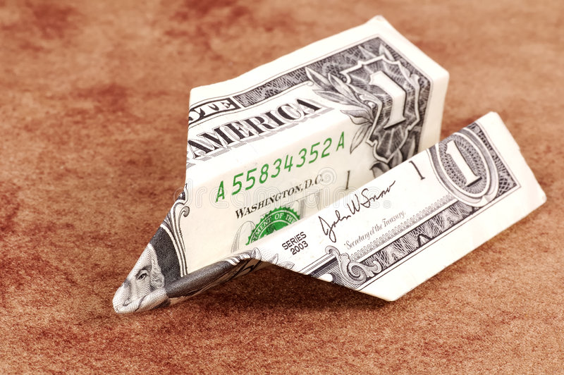 dolar złożone zdjęcie stock