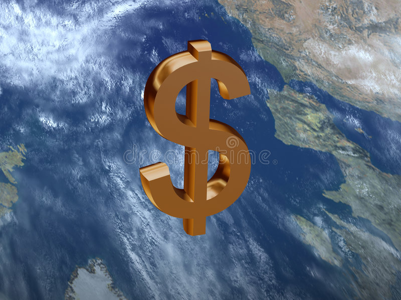 Dolar Znak Fotografia Stock