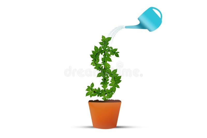 dolara amerykańskiego pieniądze rośliny symbol ilustracji