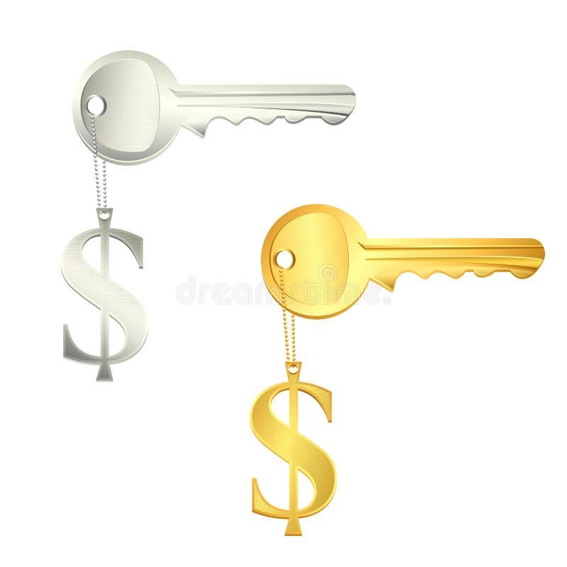dolara klucz ilustracja wektor