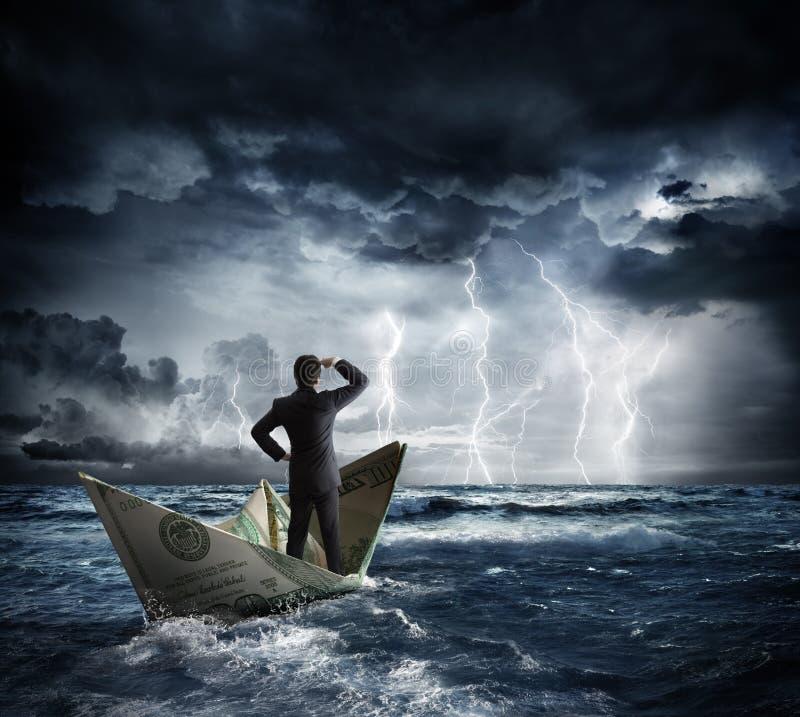 Download Dolarowa łódź W Złej Pogodzie Obraz Stock - Obraz złożonej z bankowość, biznes: 57667481