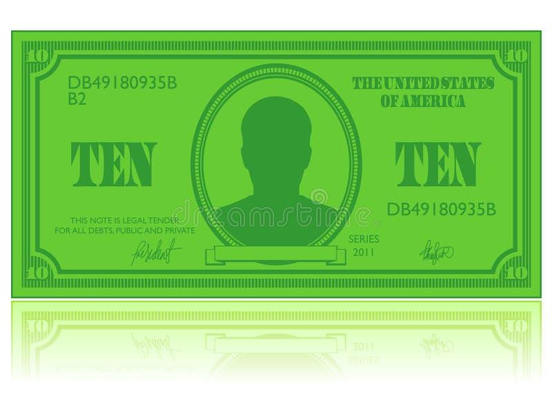 dolarowa ikona royalty ilustracja