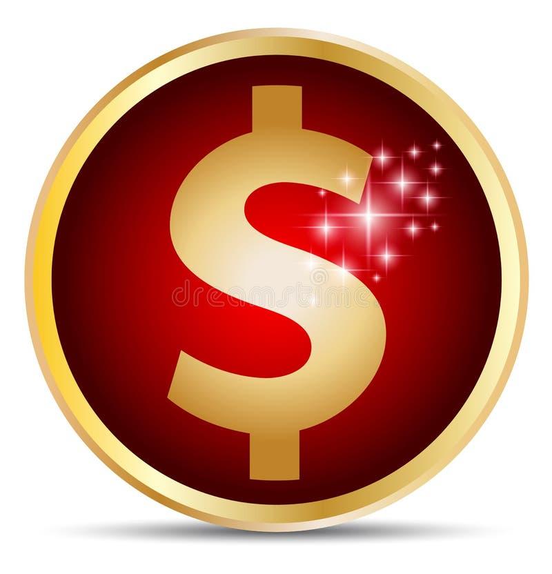 Dolarowa ikona ilustracji