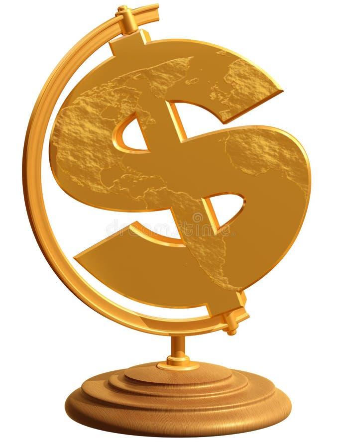 dolarowa kula ziemska my royalty ilustracja