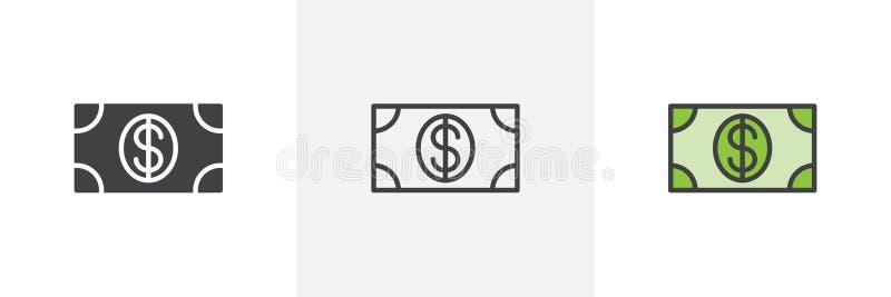 Dolarowa pieniądze rachunku ikona royalty ilustracja