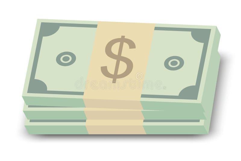 dolarowa rachunek sterta ilustracja wektor