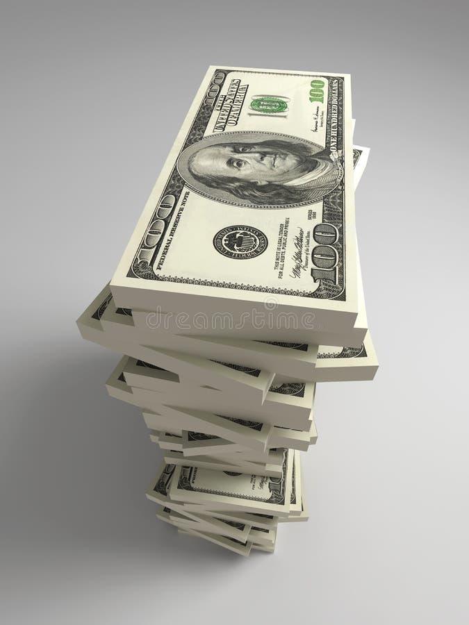 dolarowa rachunek sterta royalty ilustracja