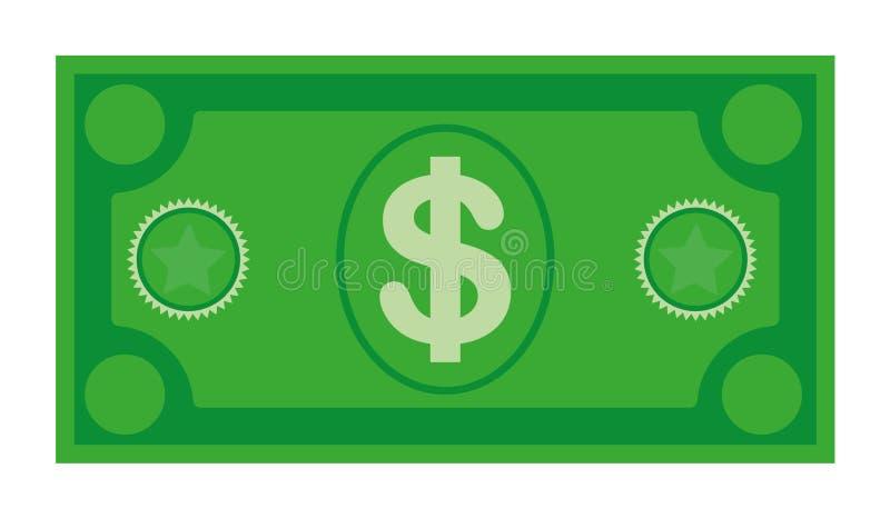 Dolarowa waluta banknotu ikona, akcyjna wektorowa ilustracja Dolarowa waluty ikona w mieszkanie stylu Pieni?dze got?wka obrazy royalty free