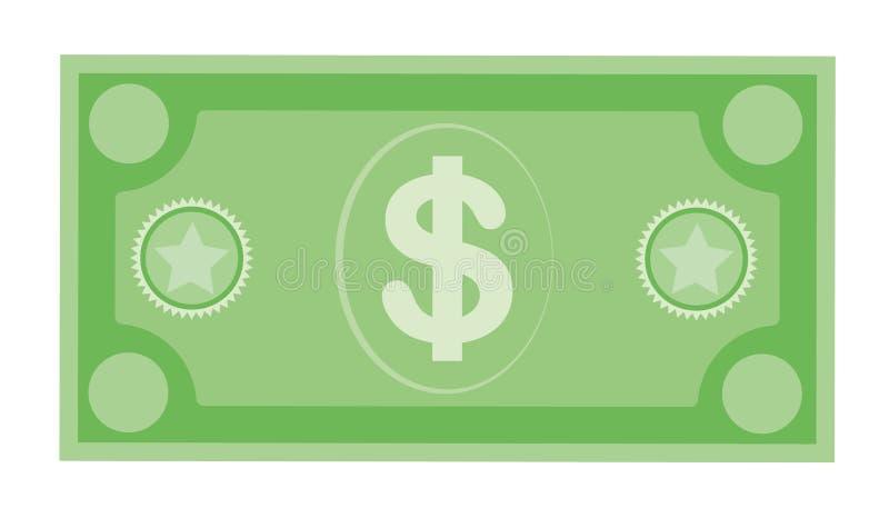 Dolarowa waluta banknotu ikona, akcyjna wektorowa ilustracja Dolarowa waluty ikona w mieszkanie stylu Pieni?dze got?wka fotografia royalty free