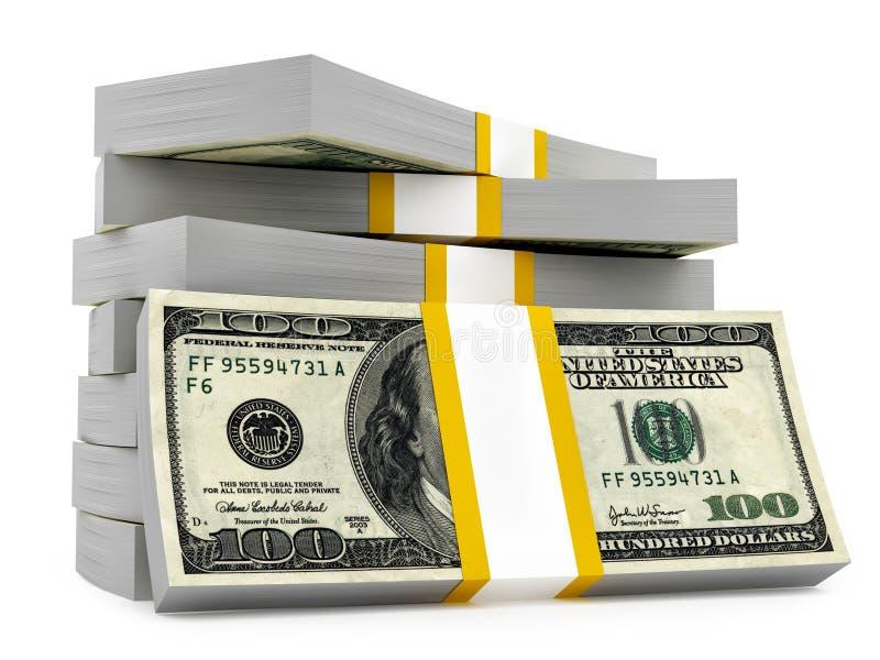 Dolarowe sterty ilustracji