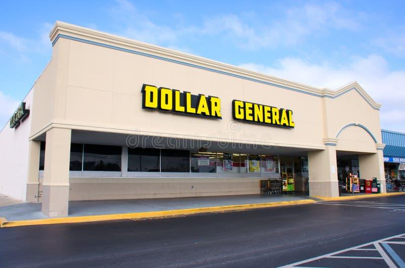 Dolarowego Generał dyskontowy sklep detaliczny zdjęcia royalty free