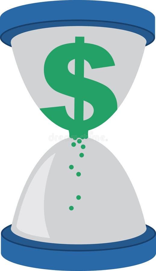 Dolarowego znaka Hourglass royalty ilustracja
