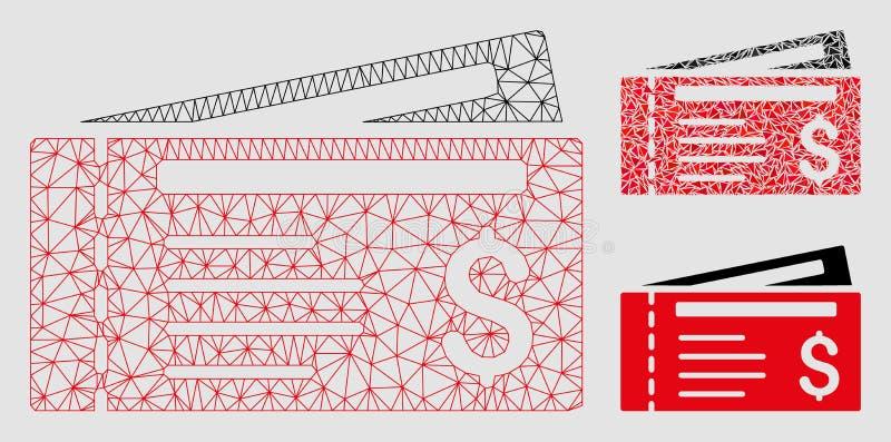 Dolarowej kratki Wektorowej siatki trójboka i modela mozaiki 2D ikona ilustracja wektor