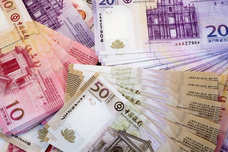dolarowi Macau patacas zdjęcie stock