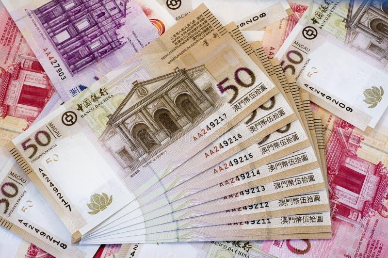 dolarowi Macau patacas obrazy stock
