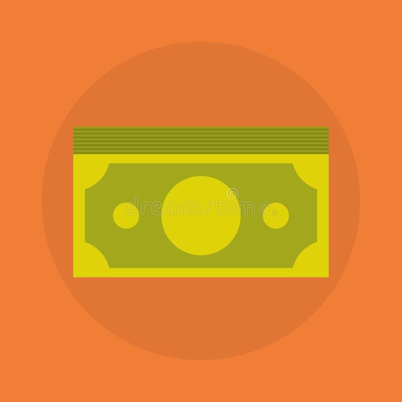Dolarowy banknot sterty ikony pieniądze pojęcie ilustracja wektor