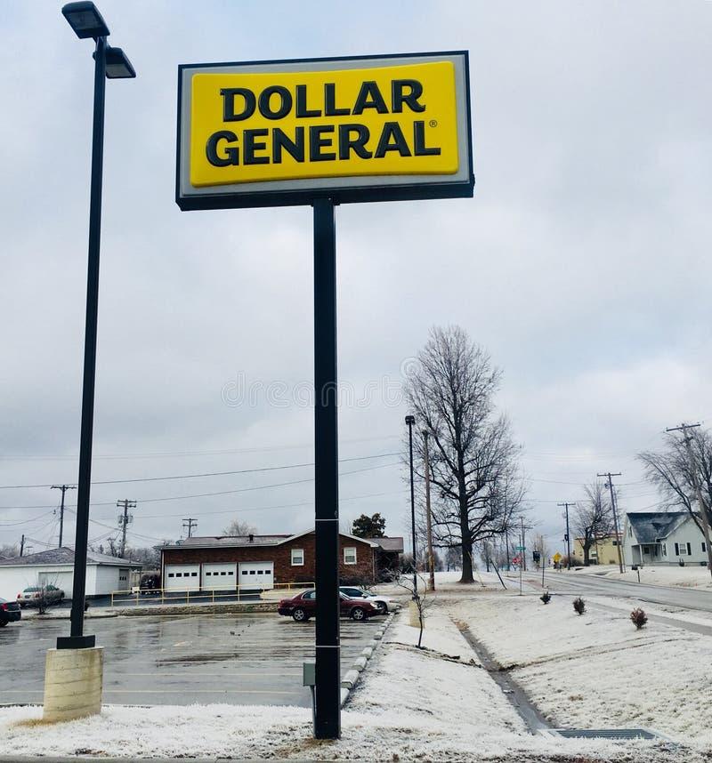 Dolarowy generała znak zdjęcie royalty free