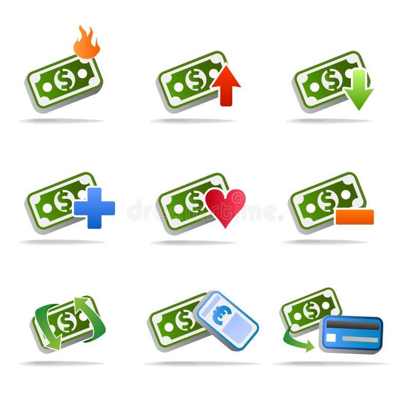 dolarowy ikony pieniądze set