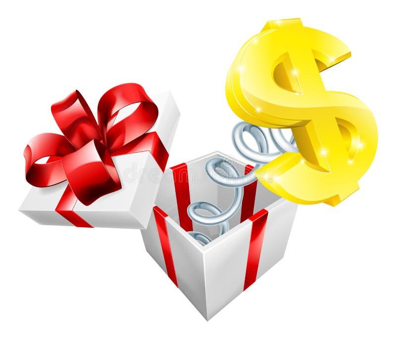 Dolarowy Jack w pudełku ilustracja wektor