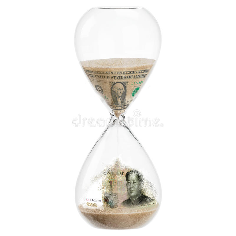 Dolarowy Juan Renminbi zdjęcie royalty free