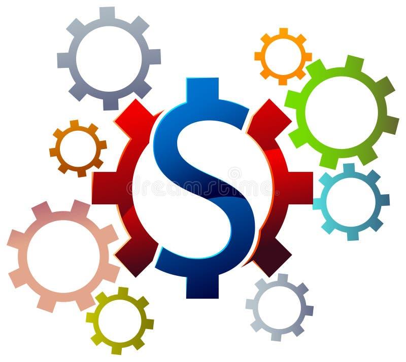 Dolarowy koło ilustracji