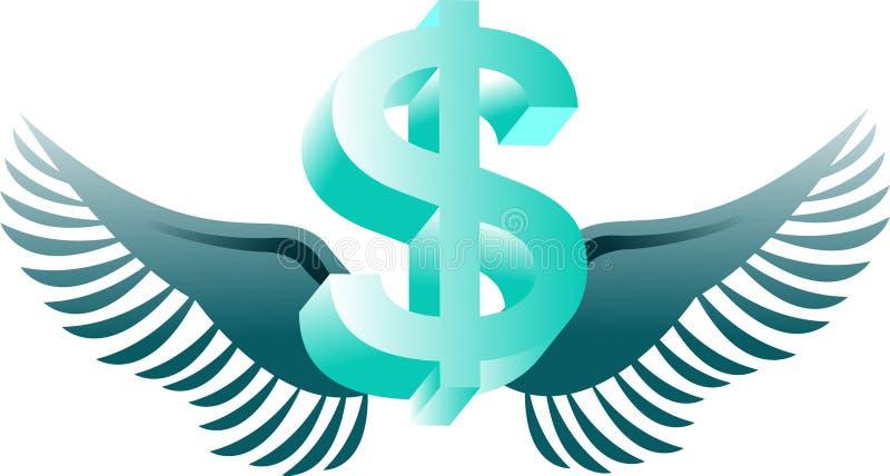 dolarowy latanie royalty ilustracja