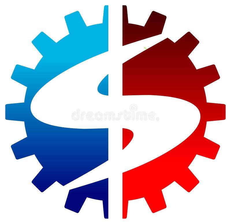 Dolarowy logo royalty ilustracja