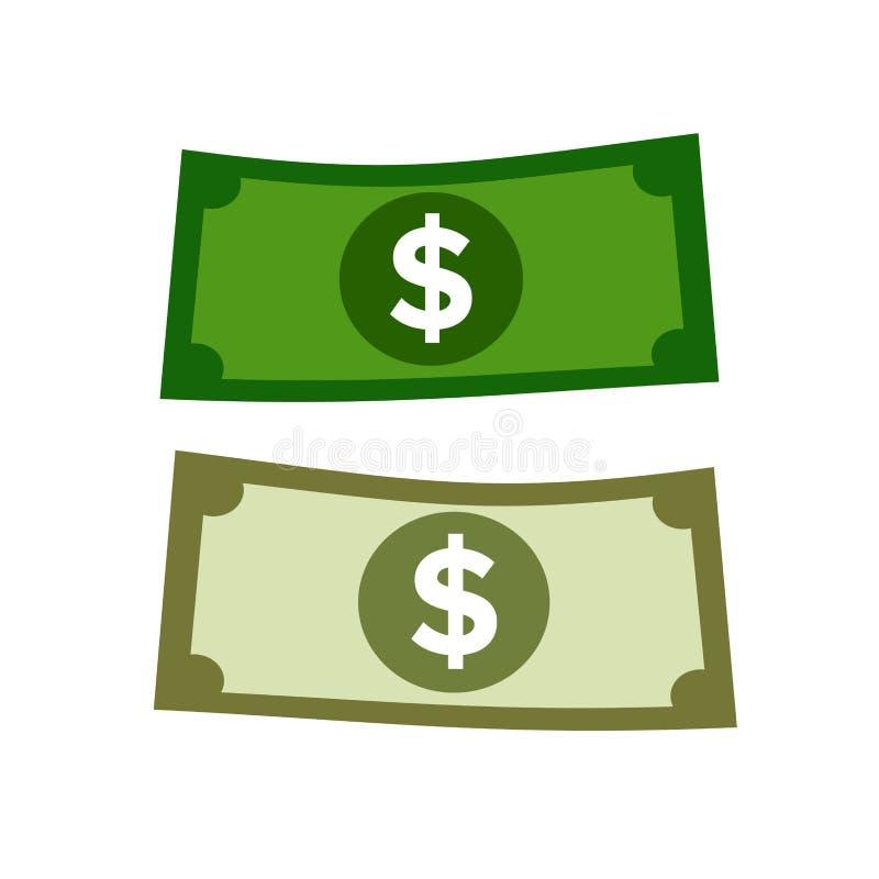 Dolarowy pieniądze ilustracja wektor