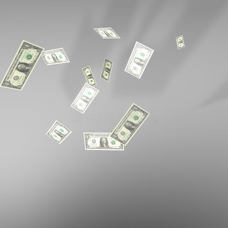Dolarowy pieniądze deszcz zdjęcie stock