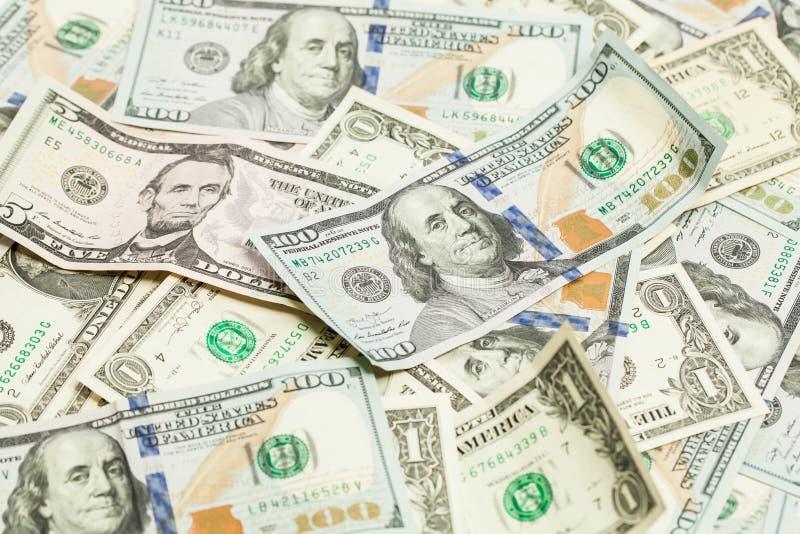 Dolarowy pieniądze gotówki tło USA dolarów sztandaru tło zdjęcia royalty free