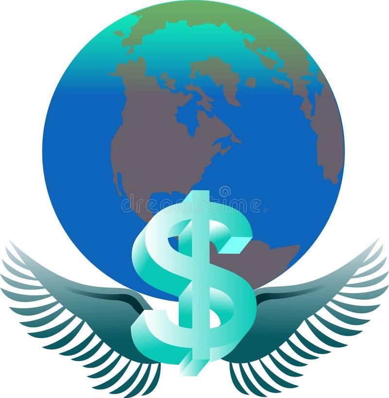 dolarowy podesłanie ilustracja wektor