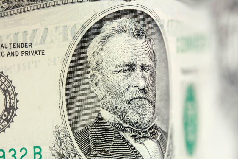 50 dolarowy rachunek obrazy royalty free