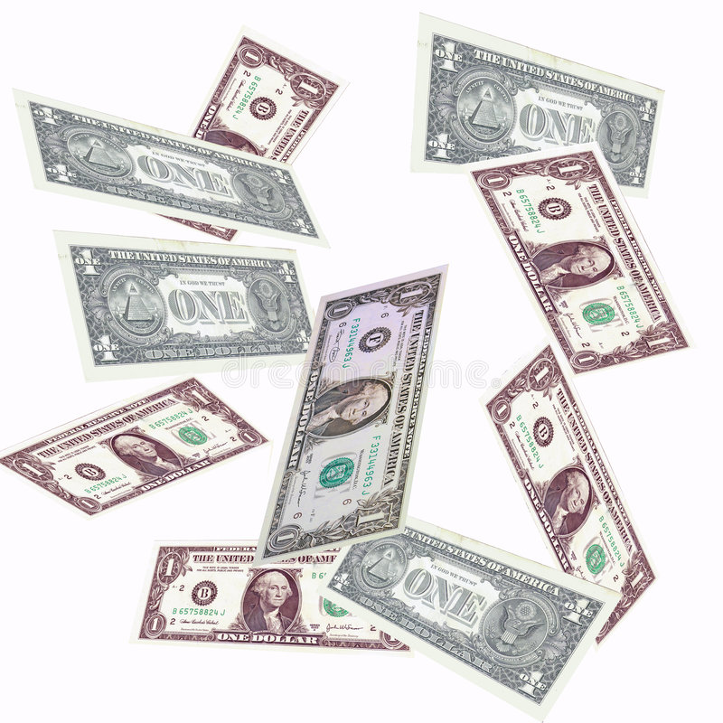 dolarowy spadać zdjęcie royalty free