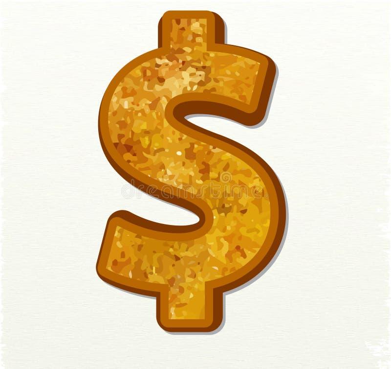 Dolarowy waluta znak ilustracji