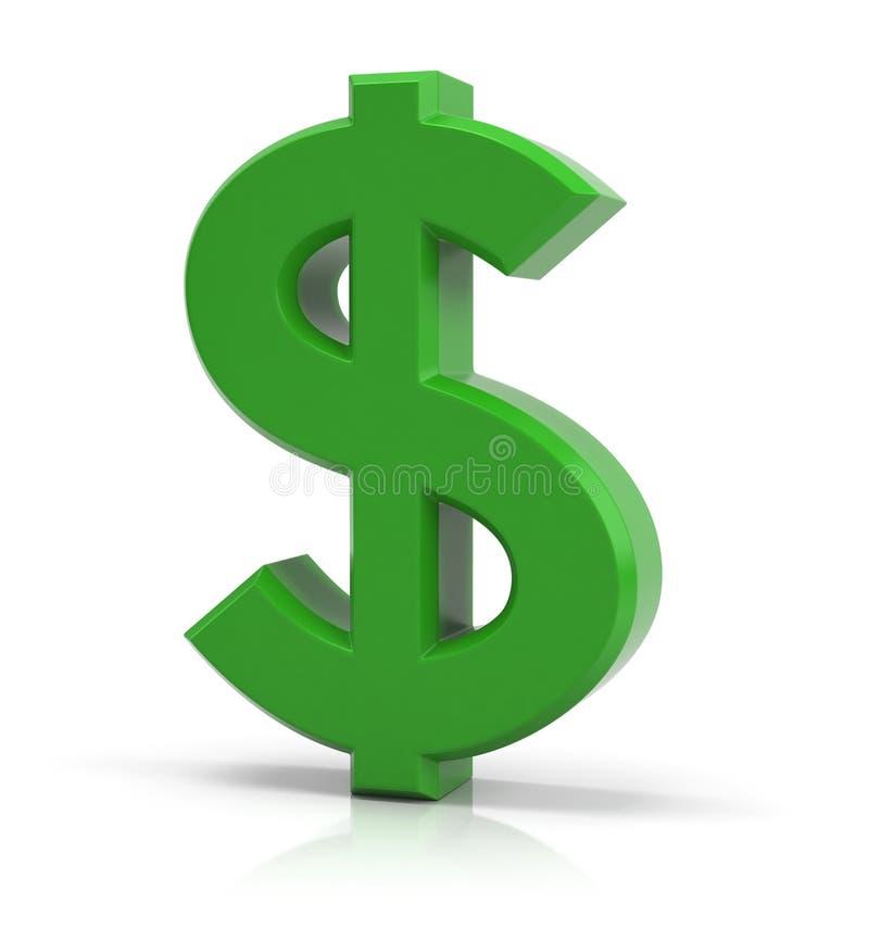 Dolarowy znak ilustracja wektor