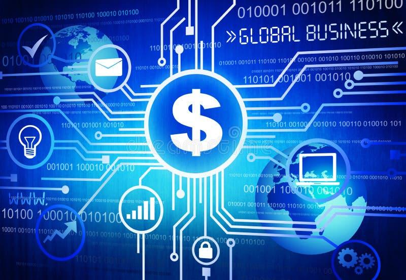 Download Dolarowy Znak Z Globalnego Biznesu Pojęciem Zdjęcie Stock - Obraz złożonej z pokaz, sieć: 41953648