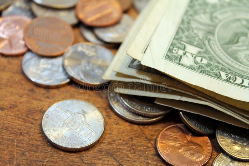 Dolary i centy zdjęcia royalty free