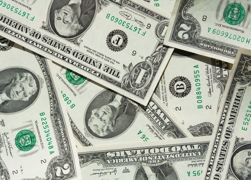 Dolary I Dolary Rachunków Obrazy Stock