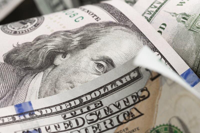 Dolary kłamają chaotically - wizerunek zdjęcie stock