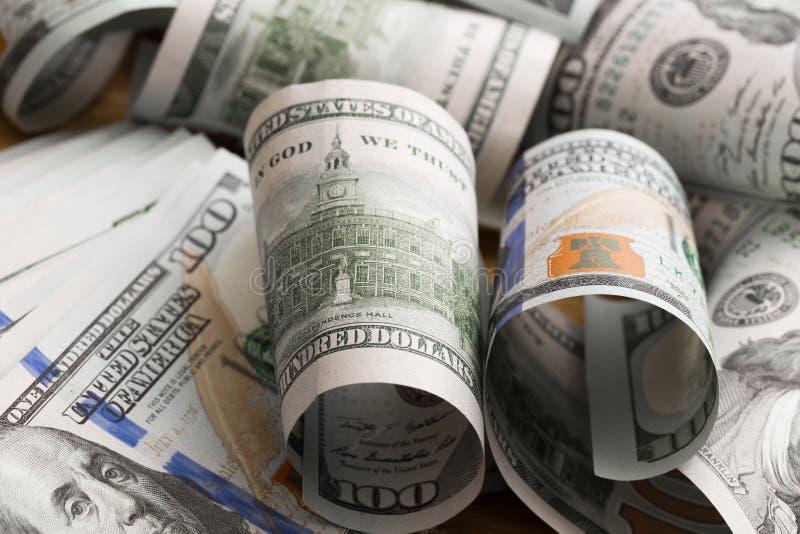 Dolary kłamają chaotically - wizerunek obraz stock